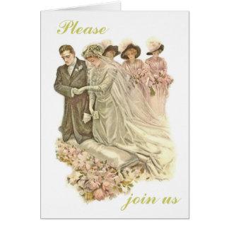 Edwardian Vintage Wedding Invitation Card