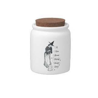 Edwardian Witch - A New Broom *Always* Sweeps Clea Candy Dish