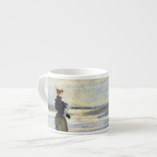 Edwardian Woman on Beach Espresso Cup