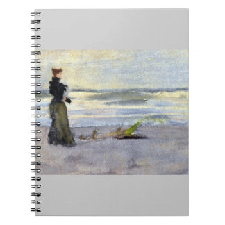 Edwardian Woman on Beach Notebook
