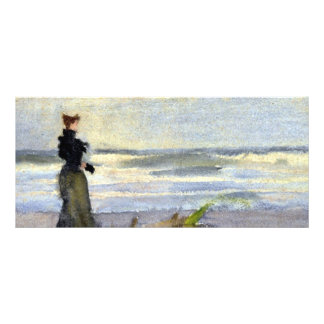 Edwardian Woman on Beach Rack Card