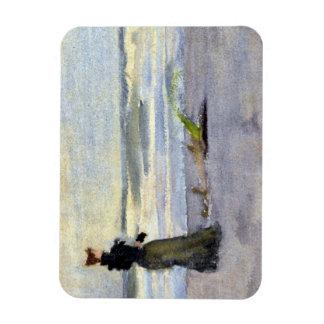 Edwardian Woman on Beach Rectangular Photo Magnet