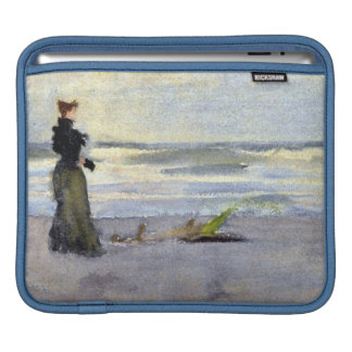 Edwardian Woman on Beach Sleeve For iPads