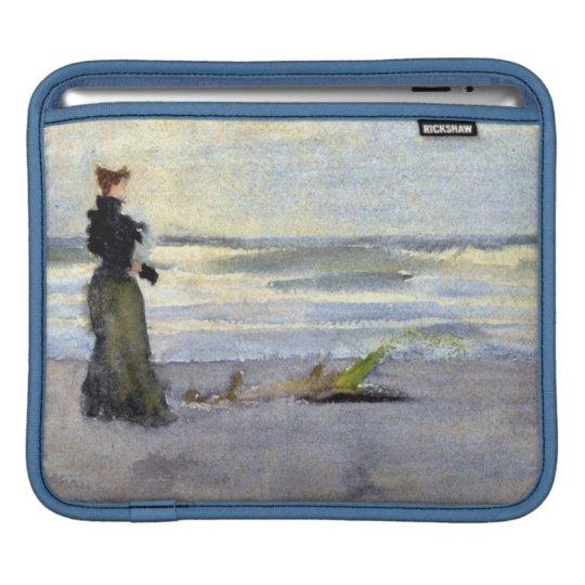 Edwardian Woman on Beach Sleeve For iPads