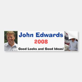 Edwards6, Edwards8, John Edwards, 2008, buen Lo… Pegatina Para Auto
