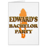 Edward's Bachelor Party Greeting Card