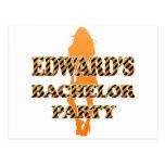 Edward's Bachelor Party Postcards