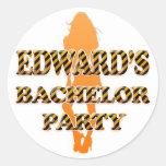 Edward's Bachelor Party Sticker
