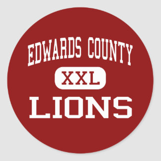 Edwards County - Lions - High - Albion Illinois Classic Round Sticker