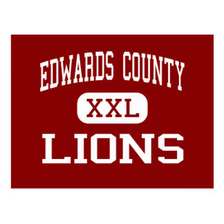 Edwards County - Lions - High - Albion Illinois Postcard