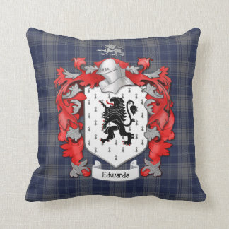 Edwards Family Coat of Arms - Wales Throw Pillow