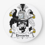 Edwards Family Crest Clocks