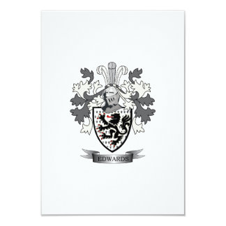 Edwards Family Crest Coat of Arms Card