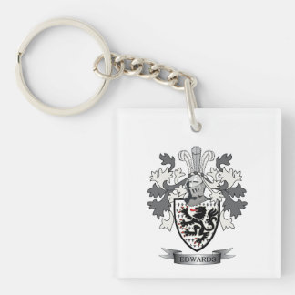 Edwards Family Crest Coat of Arms Keychain