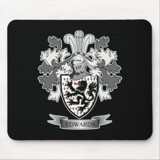 Edwards Family Crest Coat of Arms Mouse Pad