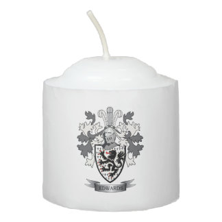 Edwards Family Crest Coat of Arms Votive Candle