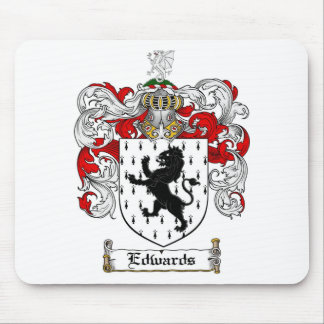 EDWARDS FAMILY CREST -  EDWARDS COAT OF ARMS MOUSE PAD