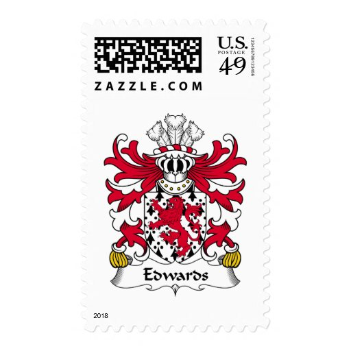 Edwards Family Crest Postage Stamp