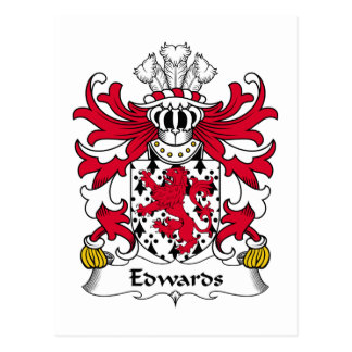 Edwards Family Crest Postcard