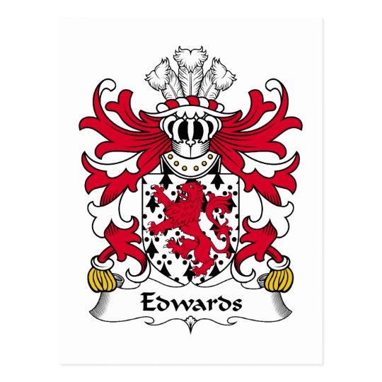 Edwards Family Crest Postcard