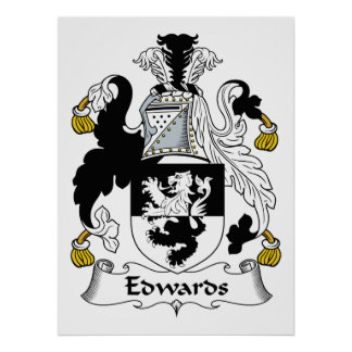 Edwards Family Crest Posters