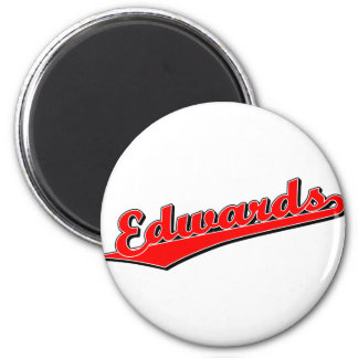 Edwards in Red 2 Inch Round Magnet