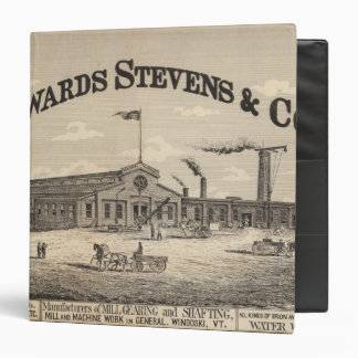 Edwards Stevens and Co manufacturers in Winooski 3 Ring Binder