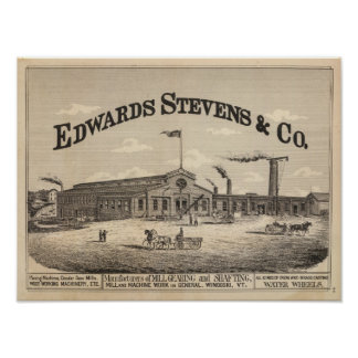 Edwards Stevens and Co manufacturers in Winooski Poster