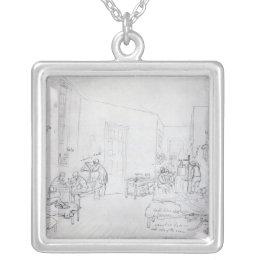 Edward's Ward, St. Thomas's Hospital, London Silver Plated Necklace