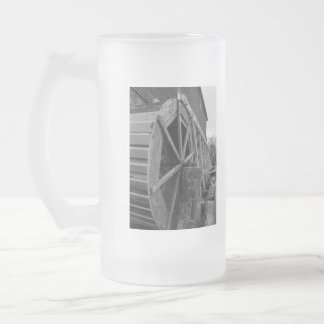 Edwards Water Wheel Frosted Glass Beer Mug