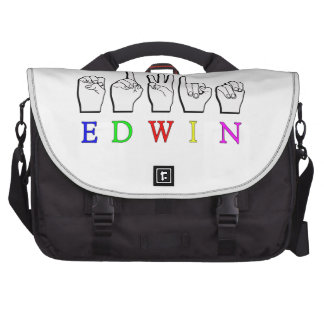 EDWIN  FINGERSPELLED ASL SIGN NAME MALE BAG FOR LAPTOP