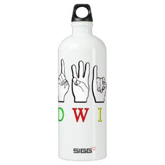 EDWIN  FINGERSPELLED ASL SIGN NAME MALE SIGG TRAVELER 1.0L WATER BOTTLE