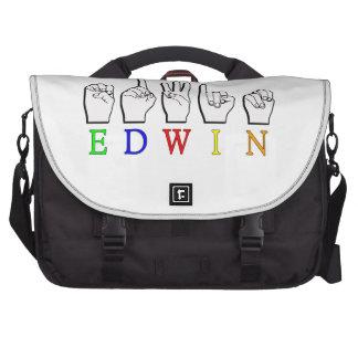 EDWIN FINGERSPELLED NAMESIGN ASL COMPUTER BAG