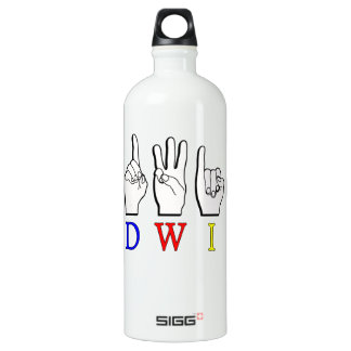 EDWIN FINGERSPELLED NAMESIGN ASL SIGG TRAVELER 1.0L WATER BOTTLE