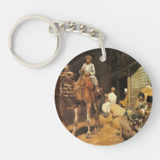 Edwin Lord Weeks- A Marketplace in Ispahan Single-Sided Round Acrylic Keychain