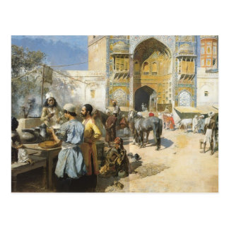 Edwin Lord Weeks- An Open Air Restaurant, Lahore Postcard