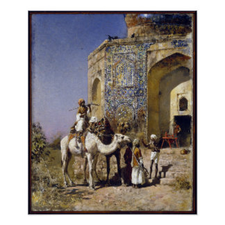 Edwin Lord Weeks The Old Blue-Tiled Mosque Poster