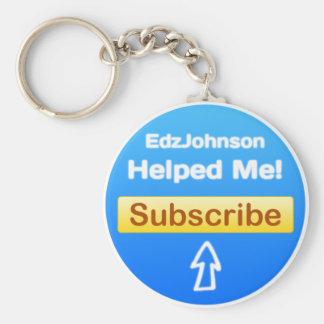 EdzJohnson Badge Basic Round Button Keychain