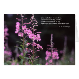 ee cummings inspirational quote - fireweed image cards