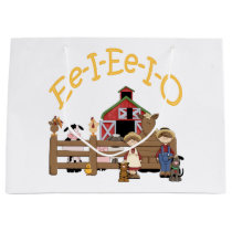 Ee I Ee I O on the Farm Large Gift Bag