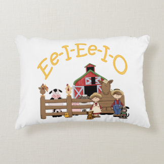 Ee I Ee I O on the Farm Accent Pillow