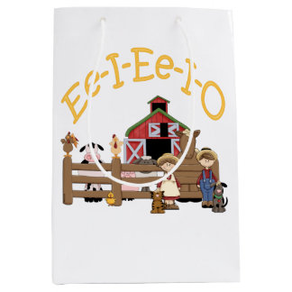 Ee I Ee I O on the Farm Medium Gift Bag