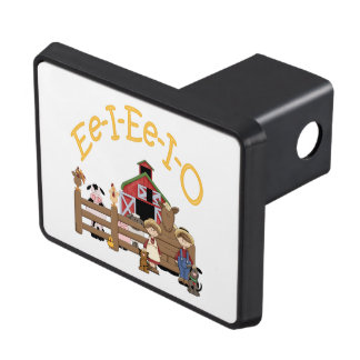 Ee I Ee I O on the Farm Tow Hitch Cover