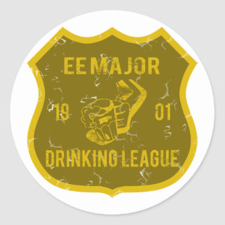 EE Major Drinking League Stickers