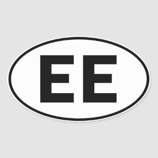 EE Oval Identity Sign Sticker