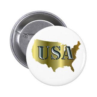 EE UU oro+Petrol Pin