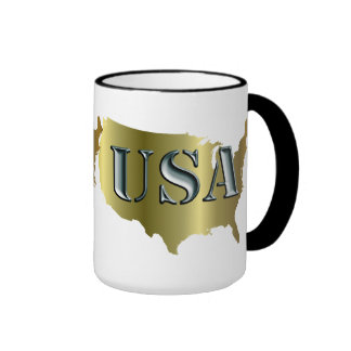 EE.UU. oro+Petrol Tazas