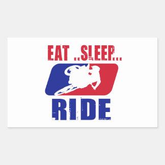 Eeat Sleep and ride Rectangular Sticker