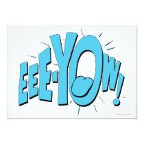 invitations, vintage, retro, eee-yow, catwoman, batman, bat man, 1966 batman, 60's batman, batman action callout, action words, fighting sound effect words, punching sounds, adam west, burt ward, batman tv show, batman cartoon graphics, super hero, classic tv show, Invitation with custom graphic design