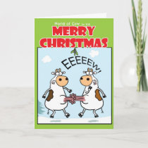 EEEEW! At Christmas Holiday Card